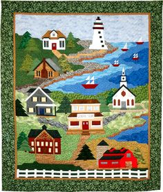 """All Roads Lead to the Sea"" by Country Creations; Block-of-the-Month beginning April 2013 at Stitchin' Heaven"