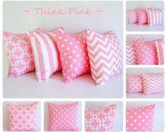 Rosa Almohada Cubierta Un Cojín Tapa Bebé Almohada Rosa Tapa Lunares Rosa  Chicle Vivero Decoración. Pink Pillow CoversPink Throw ...