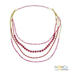 Handcrafted Brass 'Summer Roses' Quartz Necklace (Thailand)   Overstock.com Shopping - Great Deals on Novica Necklaces