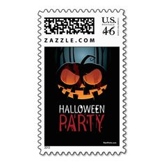 Halloween Scare Postage Stamp