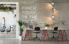 WIP coworking space designed by Super ured Architects from Split, Croatia.