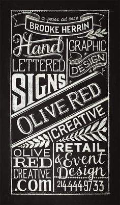 Chalkboard Typography Share me! … | Pinterest