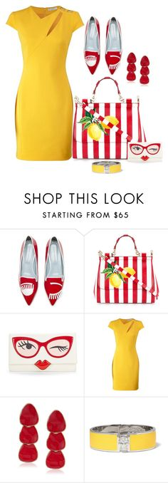 """""""MATCHY-MATCHY!"""" by prettyposh ❤ liked on Polyvore featuring Dolce&Gabbana, Kate Spade, Versace, Kenneth Jay Lane and Alexander McQueen"""
