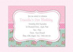 Shabby Chic INVITATION  Printable by AshleeRaePrintables on Etsy, $10.00