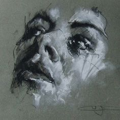 Portrait drawing of a women on paper from famous urban artist Guy Denning, Urban Art, Original Art, Streetart Life Drawing, Painting & Drawing, Sketch Drawing, Trois Crayons, Charcoal Portraits, A Level Art, Abstract Painters, High Art, Charcoal Drawing