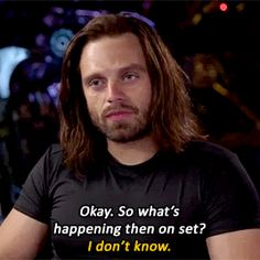 Stan responding after saying in an Avengers: Infinity War interview that he hasn't read any script.