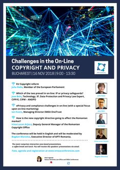 We look forward to discuss with you on 16 November about the EU Copyright Reform and about online marketing. See you soon!