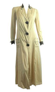 Ivory Silk Grey Trimmed Walking Jacket circa Early 1900s - Dorothea's Closet Vintage