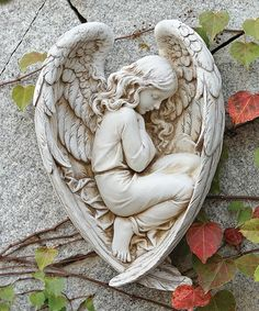 Another great find on #zulily! Sleeping Angel in Wing Statue #zulilyfinds