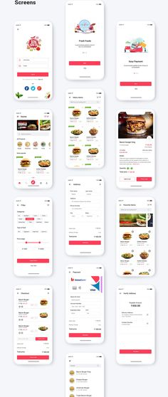 Food Delivery App UI Concept by Amit Rai on @creativemarket