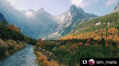 Krásna jesenná... už sa tešíme na krásne jarné  #praveslovenske od @iem_maria #tatry #zelenepleso #slovensko #tatramountains #nature #slovakia #mountains #rocks #landscape #trees #forest #water #river hills