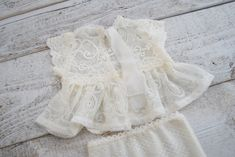 Ivory newborn girl photography set outfit : lace top &   Etsy