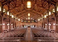 Asilomar conference grounds right on the coast next to Pebble Beach and Carmel-by-the-Sea.  Beautiful Arts & Crafts architecture by Julia Morgan.