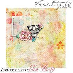 Tea Party tiny kit freebie from Vicki Stegall Designs