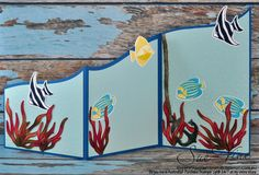 Miss Pinks Craft Spot: Seaside Shore with a Z-fold