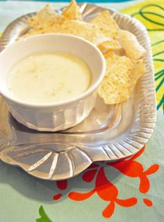 Oh how I hope this white queso is as good as they say.  We've tried for years to make a good at home white queso dip.
