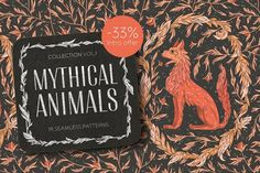 Graphic Design - Graphic Design Ideas - Mythical Animals patterns OFF by Piñata on Creative Market Graphic Design Ideas : – Picture : – Description Mythical Animals patterns OFF by Piñata on Creative Market -Read More – Fall Patterns, Textures Patterns, Print Patterns, Graphic Patterns, Owl Graphic, Graphic Prints, Graphic Design, Web Design, Watercolor Pattern