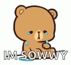 Cute Bear Drawings, Cute Cartoon Drawings, Cartoon Gifs, Cute Cartoon Wallpapers, Cute Love Pictures, Cute Love Gif, Cute Love Songs, Cute Images, Crying Gif