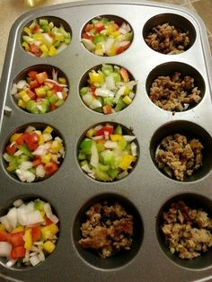 Fast Metabolism Diet, Phase 2 Breakfast Muffins! Saves time and works great with Salsa. Ingredients; italian chicken sausage, bell peppers, onions, egg white. fast diet phase 1