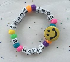 Don't Worry Be Happy Festival Rave Kandi Bracelet