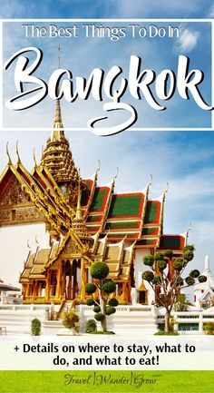In this Bangkok travel itinerary, I'll provide a guide for this city a few nearby suburbs. I'll also provide a few tips to. Thailand Travel Guide, Bangkok Travel, Visit Thailand, Asia Travel, Solo Travel, Bangkok Thailand, Wanderlust Travel, Travel Plan, Koh Chang