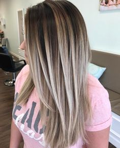 "Polubienia: 4,119, komentarze: 69 – South Florida Balayage (@simplicitysalon) na Instagramie: ""Hair Painting on straight hair, this blend ❤❤ I love that I can see my V pattern... check out my…"""