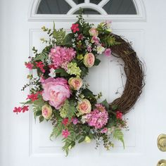 Spring Wreaths-Hydrangea Wreath-Easter by ReginasGarden on Etsy
