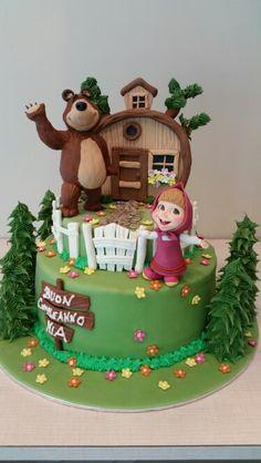 Masha and The bear cake orso
