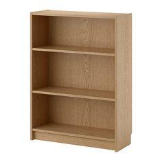 IKEA - BILLY, Bibliothèque, plaqué chêne, , Tablettes réglables : à placer selon vos besoins.Un seul élément peut servir de rangement dans un espace retreint, ou servir de base pour une solution de rangement plus importante lorsque les besoins évoluent.Surface en placage de bois naturel.