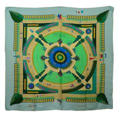 """Unusual Hermes Silk Scarf """"Celebrating 150 Years of Central Park"""" 