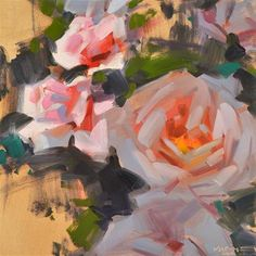 "Daily+Paintworks+-+""Roses,+Light+and+Shade""+-+Original+Fine+Art+for+Sale+-+©+Carol+Marine"