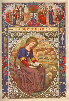 Saint  Genevieve, Patron Saint of girls.