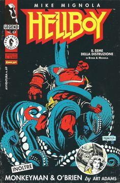 """Mike Mignola """"Hellboy - Il Seme della Distruzione, n.2"""" - Dark Horse - Comic Art, January 1995"""