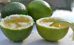 Tequila shot in a lime!