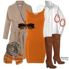 Fall Fashion - New Fall Outfit featuring hues of browns and orange. It makes a great Fall Outfit of the day. Frugal Coupon Living Frugal Fashion Friday.