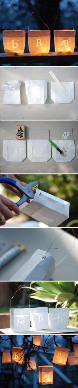 DIY Tea Light Bags - pictorial only