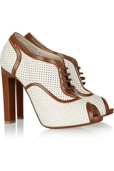 Bally: Oasis perforated leather brogues