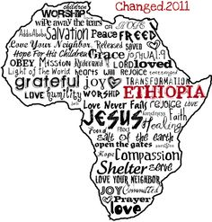 This would be an awesome shirt to sell to raise money for a mission trip.. with Zimbabwe instead of Ethiopia!