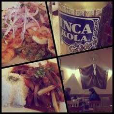 Peruvian food- lomo saltado, ceviche and inca kola. With the bf and his momma :-)