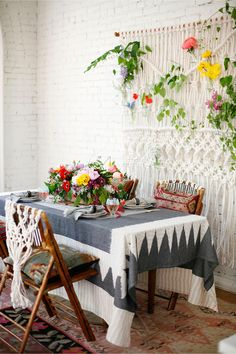 Macrame and flowers