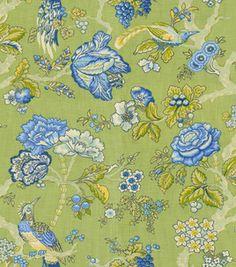 Home Decor Fabric Swatch-Waverly Casablanca Rose/Ceramic
