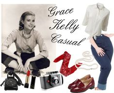 """""""get the look - grace kelly casual"""" by onceuponanovel on Polyvore"""