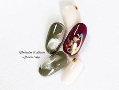 #カーキ #ニュアンス#ボルドー Nail Art Designs, Manicure, Gemstone Rings, Art Nails, How To Make, Beauty, Jewelry, Unique, Modern