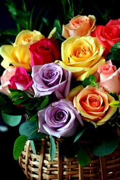 Bouquet of Assorted color roses...perfection...