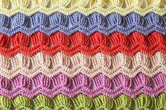 Free Crochet Patterns: Free Crochet Patterns: Interesting Crochet Stitches.  Love the fan ripple. pjc