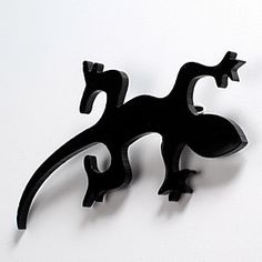 Black Lizard  Laser Cut Acrylic Brooch by Nechegonadet on Etsy, $15.00
