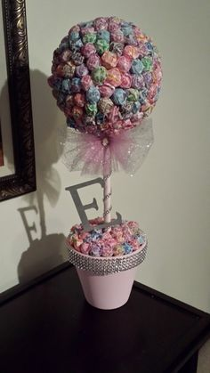 Elegant Dum Dum Topiary Tree with Initial by MomentsbyAnabella, $48.50