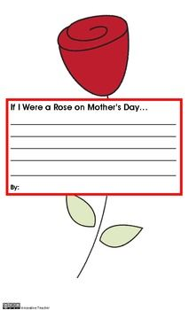 If I Were a Rose on Mothers Day...Writing Prompt {FREEBIE}