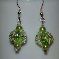 Spinning Top Bead Earrings