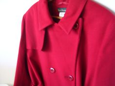 Coupon 25 Off Red Wool Coat Size 16//18 Harve by ARubyInTheRough, $129.00
